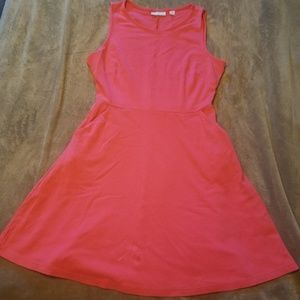 NY&C Pink Fit and Flare Cotton Dress